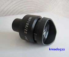 WF10x 22mm Adjustable Zoom Rubber Eye Guards Biological Microscope Eyepiece Lens