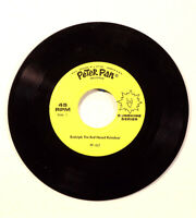 Rudolph The Rednose Reindeer 45 RPM Single Peter Pan Records