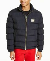 Love Moschino Mens Jacket Navy Blue Size 38 Quilted Full Zip Puffer $620 176