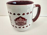 Pro Football Hall of Fame Canton Ohio Brown and White Ceramic Mug New