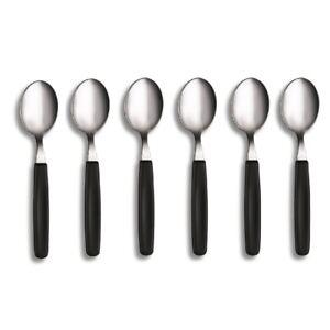 VICTORINOX BLACK TABLE SPOON SET 6 Spoons Cutlery Table Dinner SET 6