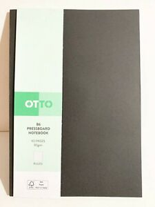 Otto B6 Pressboard Ruled Notebook 60 Page Black