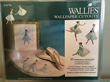 """Wallies Wall Paper Cut Outs 25pkg Ballerinas 5"""" Pre-pasted Washable"""