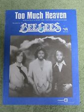 THE BEE GEES Too much heaven 1970's SHEET MUSIC!