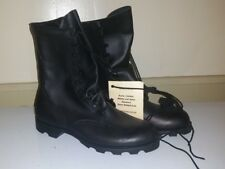 MILITARY BLACK LEATHER COMBAT BOOTS,  13.5D