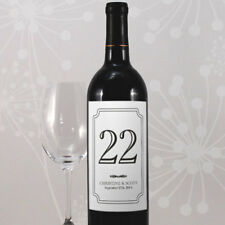 24 Classic Wine Bottle Wedding Table Number Labels