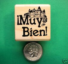 Teachers' Spanish Muy Bien, wood mounted rubber stamp