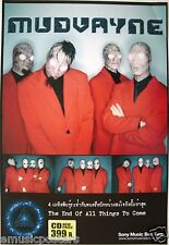"""MUDVAYNE """"END OF ALL THINGS TO COME"""" THAILAND PROMO POSTER - Heavy/Math Metal"""