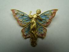 GORGEOUS 18k Gold Plique a jour enamel pin w/ diamonds