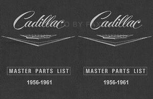 Cadillac Master Teile Buch 1956 1957 1958 1959 1960 1961 Illustrierte Katalog