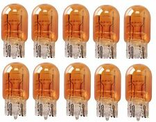 10x 7443 AMBER STOCK TAIL LIGHT T20 BRAKE STOP TURN SIGNAL Yellow BULBS 7443NA