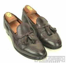 BROOKS BROTHERS Alden Burgundy Maroon SHELL CORDOVAN Mens Dress Shoes - 7 D