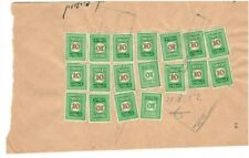 Israel 1950's Fiscal stamps on three notes
