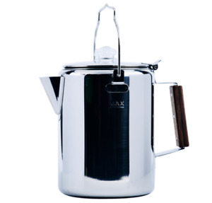 12-Cup Percolator Stainless Steel Coffee Pot Camping Fire Pit RV Travel