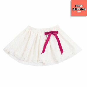 DREAMERS Lace Flare Skirt Size 12M Fully Lined Elasticated Waist Bow