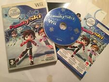 ORIGINAL NINTENDO Wii GAME FAMILY SKI By NAMCO +BOX +INSTRUCTIONS TESTED GWO PAL