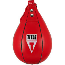 Title Boxing Super Fast Leather Speed Bag - Red