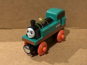 Gina - 2012 HTF Thomas & Friends Wooden Railway  Great Race Racing Engine - Used