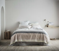 Sheridan Baynes Buttermilk 100% Cotton Sateen Quilt Cover Set