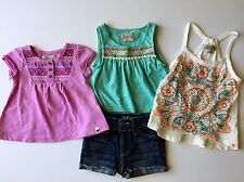 Toddler Girls 2t 24 Months Summer Lot Lucky Brand Jean Shorts Tank Embroidered