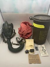 Very Nice Vintage 1954 Us Military Issue Pilot's Ms22001 Oxygen Mask Size Large