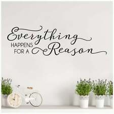 Everything Happens for a Reason Vinyl Lettering Art Decals Wall Sticker Decor