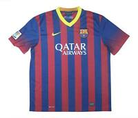 Barcelona 2013-14 Authentic Home Shirt (Excellent) XL Soccer Jersey