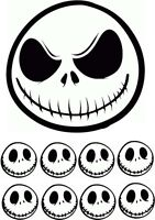 "Jack Skellington 7.5"" Round * ICING SHEET * Cake Topper plus 8 Toppers"