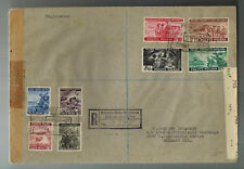 1943 Poland Free Government in Exile Com Set # 3K9-3K16 to USA Registered Cover