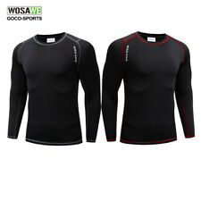 Mens Cycling Base Layer Winter Thermal Fleece Long sleeve Jersey Underwear Shirt