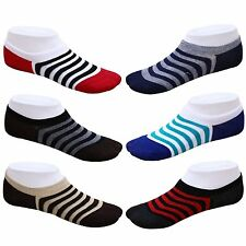 Men's Loafer Socks No Show Socks Striped Socks (Pack Of 6)