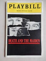 March 1992 - Brooks Atkinson Theatre Playbill - Death And The Maiden - Close