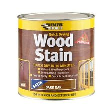 Everbuild 750ml Woodstain Satin Dark Oak
