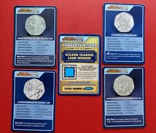 More details for change checker 50p trading cards (x5) incl. golden card (already claimed prize!)