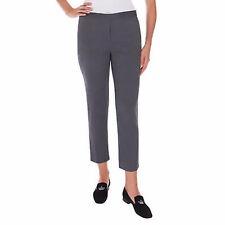 Mario Serrani Womens Comfort Stretch Fabric Slim Fit Pants 4x30 Black/White Mini