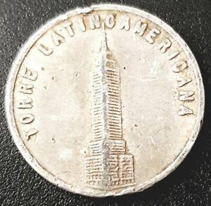 1970's TORRE LATINOAMERICANA MIRADOR Mexico D.F. Aluminum token