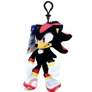 "Sonic The Hedgehog Shadow Plush Doll Key Chain Coin Bag Clip On 8"" Soft Plush"