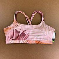 GapFit Women's Size Large Coral Palm Eclipse Medium Support Strappy Sports Bra