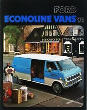 1974 Ford Econoline Vans E-100 E-200 E-300 Dealer Sales Brochure