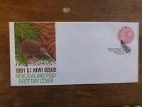 NEW ZEALAND 1991 $1 KIWI STAMP FDC FIRST DAY COVER