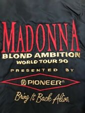 Exclusive Madonna Blond Ambition World Tour 1990 Staff Bomber Jacket Pioneer