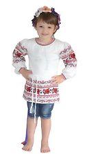 Ukrainian girl's dress tunic embroidery girls vyshyvanka shirt textile Ukraine