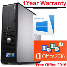 ULTRA Veloce Dell Dual Core PC computer desktop tower Windows 10 WIFI 8GB RAM 1TB
