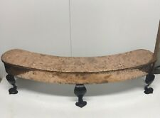 Vintage Cast Iron Fireplace Fender With Copper Detail