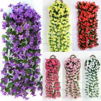 Kunstblumen Künstliche Glyzinien Girlande Blumen Pflanzen Hängend Kunstpflanze