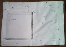 Vis-A-Vis (Paris) - 5 Placemats And 6 Napkins Set - Gold Dots - 100% Linen