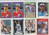 Lot of 8 Randy Johnson cards (see photos) w/ 4 Rookie RC 1989 Upper Deck Donruss