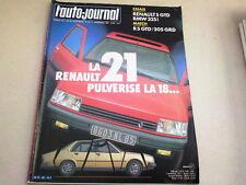 """REVUE  """" L' AUTO JOURNAL """" N° 21   ANNEE  1985  *"""