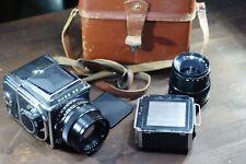 Camera KIEV - 88 (analog HASSELBLAD)  2Lens: 1) VOLNA - 3 (2.8/80) / 2) Vega 12B