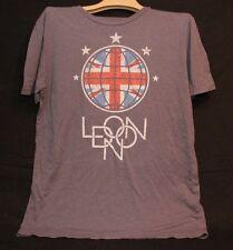RETRO LONDON UNION JACK BRITISH FLAG ADULT XL GRAY TSHIRT T SHIRT GRAPHIC TEE